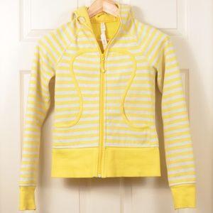 Lulu 2 Scuba Hoodie Yellow Grey stripe